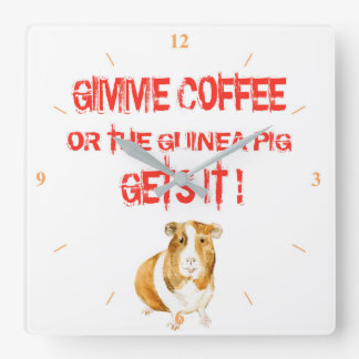 Gimme Coffee! Square Wall Clock