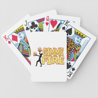 Gimme Fire Bicycle Playing Cards