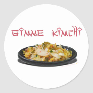 Gimme Kimchi Kimchi Lovers Round Stickers
