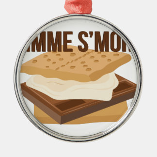 Gimme Smore Silver-Colored Round Decoration