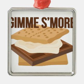 Gimme Smore Silver-Colored Square Decoration