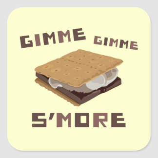 Gimme S'more Square Sticker