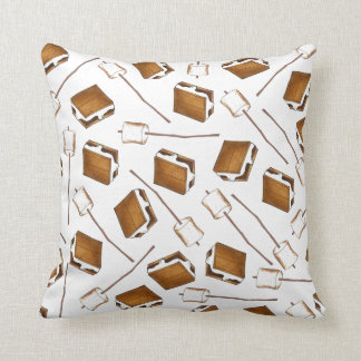 Gimme S'more Toasted Marshmallow Smores Camp Cushion