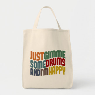 Gimme Some Drums Canvas Bags