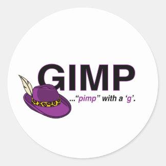 Gimp Pimp Stickers