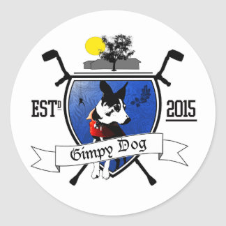 Gimpy Dog Ranch Crest Stickers