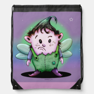 GIMY ALIEN CARTOON Drawstring Backpack