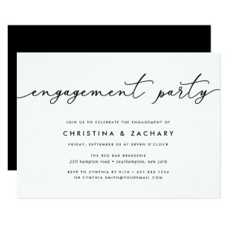 Gin Lane | Engagement Party Invitation