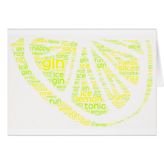 Gin Lemon Slice Card