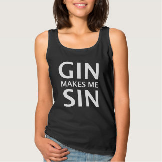 Gin Makes Me Sin Singlet