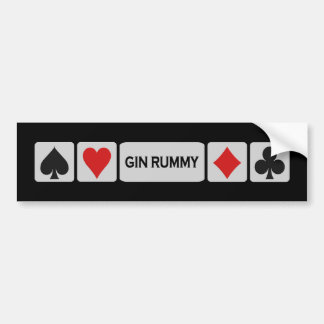 Gin Rummy bumpersticker Bumper Sticker