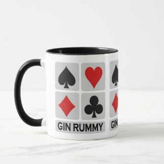 Gin Rummy mug - choose style & color
