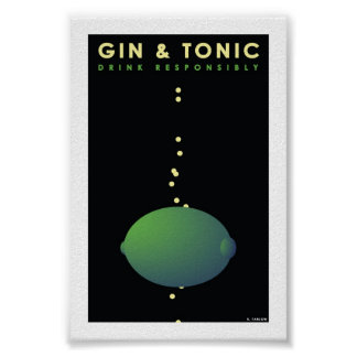 "Gin & Tonic (4"" x 6"" Card) Poster"