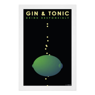 Gin & Tonic (Large Archival Paper Poster) Poster