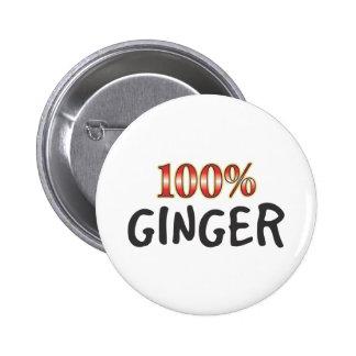Ginger 100 Percent 6 Cm Round Badge