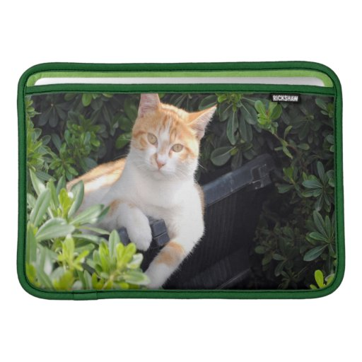 Ginger and White Cat MacBook Air Sleeve