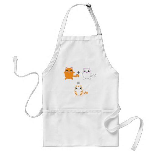 Ginger and white cats funny apron