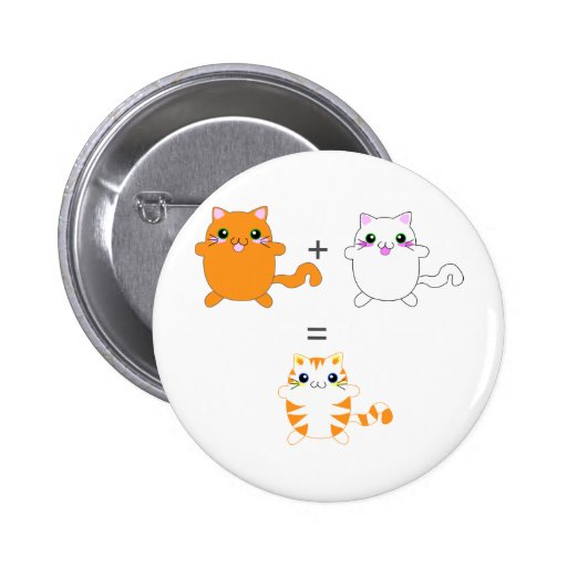Ginger and white cats funny pin