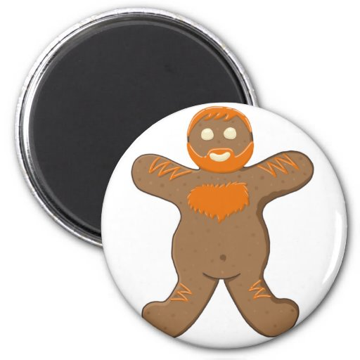Ginger Bear Man Magnets
