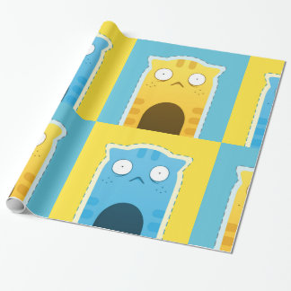 Ginger Blue Cat Wrapping Paper