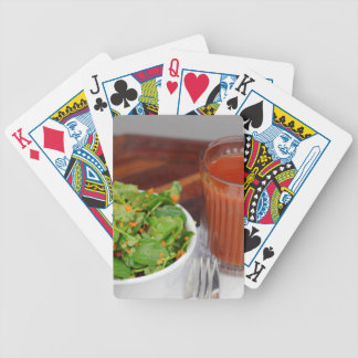 Ginger Carrot Tomato Dressing Watercress Salad Bicycle Playing Cards