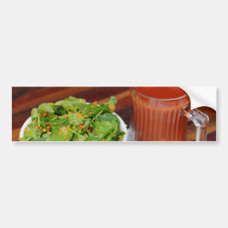Ginger Carrot Tomato Dressing Watercress Salad Bumper Sticker