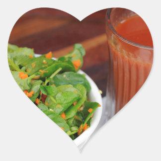 Ginger Carrot Tomato Dressing Watercress Salad Heart Sticker