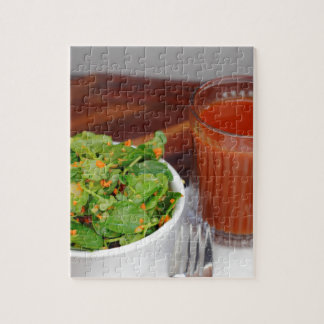 Ginger Carrot Tomato Dressing Watercress Salad Jigsaw Puzzle