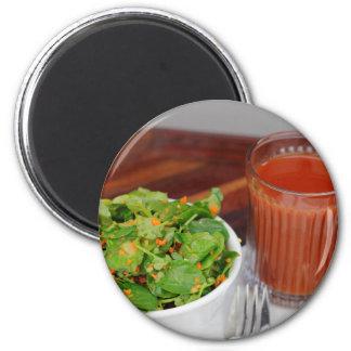 Ginger Carrot Tomato Dressing Watercress Salad Magnet