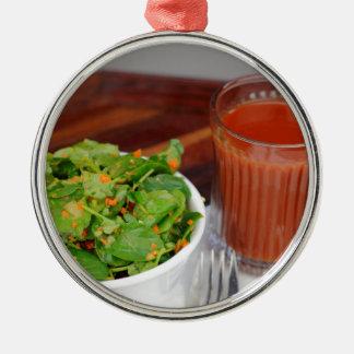 Ginger Carrot Tomato Dressing Watercress Salad Metal Ornament