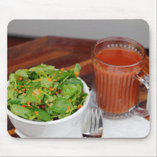 Ginger Carrot Tomato Dressing Watercress Salad Mouse Pad
