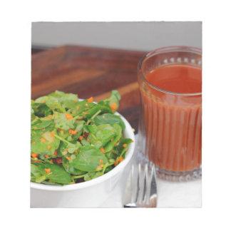 Ginger Carrot Tomato Dressing Watercress Salad Notepad