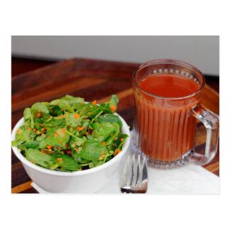 Ginger Carrot Tomato Dressing Watercress Salad Postcard