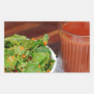 Ginger Carrot Tomato Dressing Watercress Salad Rectangular Sticker