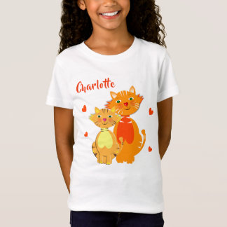 Ginger Cat and Kitten Super Cute Personalized T-Shirt
