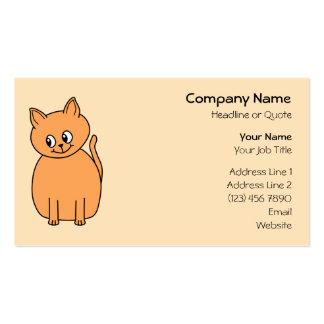 Ginger Cat. Business Cards