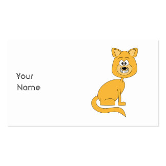 Ginger Cat. Business Card Template
