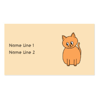 Ginger Cat. Business Card Templates