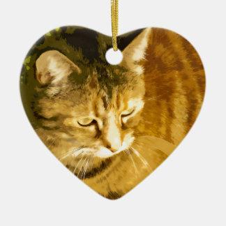 Ginger cat ornaments