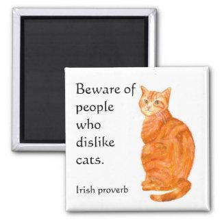 'Ginger Cat' Fridge Magnet