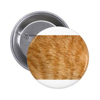 Ginger cat fur button
