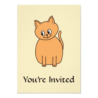 Ginger Cat. 5x7 Paper Invitation Card