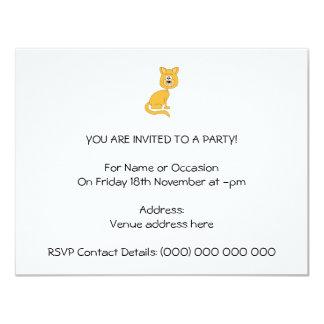 Ginger Cat. 4.25x5.5 Paper Invitation Card