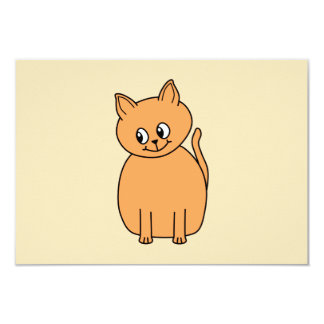 Ginger Cat. Custom Invite