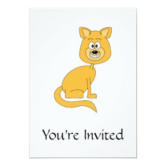 Ginger Cat. Personalized Invitation