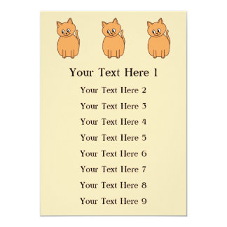 Ginger Cat. Personalized Invite