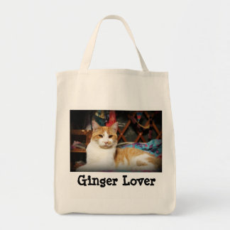 Ginger (cat) Lover Grocery Tote bag