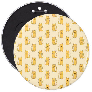Ginger Cat Pattern Pinback Button