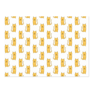 Ginger Cat Pattern. Large Business Cards (Pack Of 100)
