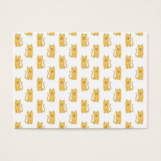 Ginger Cat Pattern. Business Card